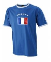 Blauw heren shirtje met franse vlag