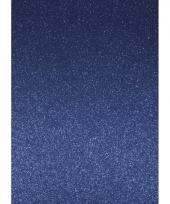 Blauw hobbykarton met glitters