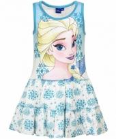 Blauw jurk frozen voor meisjes