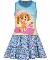 Blauw jurkje met paw patrol opdruk voor meisjes