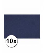 Blauw knutsel karton a4 10 stuks