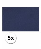 Blauw knutsel karton a4 5 stuks