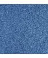Blauw knutsel papier glitter