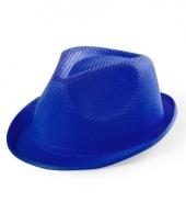 Blauw maffia gangster hoedje voor kinderen
