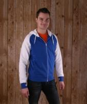Blauw met wit kariban vest