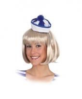 Blauw met wit matrozen hoedje