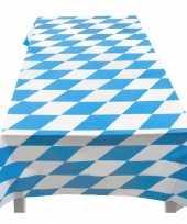 Blauw met wit tafelkleed 130 x 180 cm