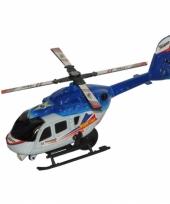 Blauw met witte wentelwiek helikopter 21 cm
