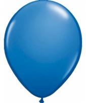 Blauw metallic ballonnen 50 stuks