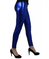 Blauw metallic legging 10080495