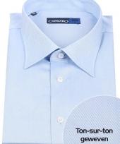 Blauw overhemd voor heren met extra lange mouwen