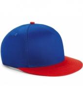 Blauw rode retro baseball cap voor kinderen