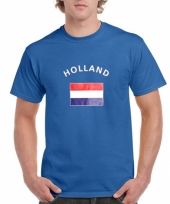 Blauw shirt vlag holland