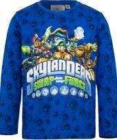 Blauw skylander kinder t-shirt
