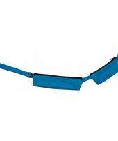 Blauw sport heuptasje 2 vakken 80 107 cm voor volwassenen