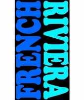 Blauw strandlaken frenchy 95 100 x 175