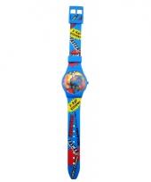 Blauw superman horloge