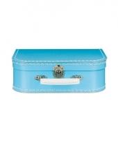 Blauw vintage koffertje 25 cm