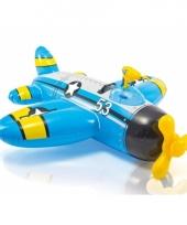 Blauw vliegtuig voor in het water 132 cm