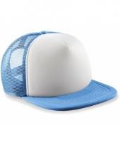 Blauw witte vintage baseball cap voor kinderen