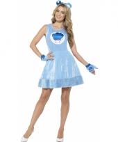 Blauwe brombeertje jurkje voor dames