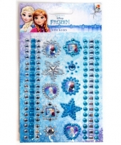 Blauwe diamant stickers frozen