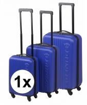 Blauwe dunlop bagage trolley 65 cm