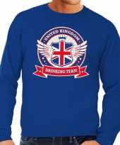 Blauwe engeland drinking team sweater heren
