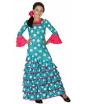 Blauwe flamenco jurken voor meiden