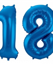 Blauwe folie ballonnen 18 jaar