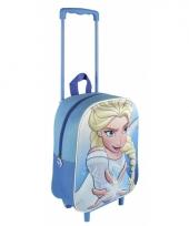 Blauwe frozen reistas trolley