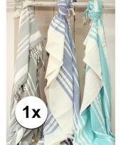Blauwe hamamdoek kleed xxl