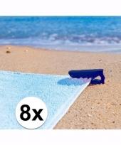 Blauwe handdoek klemmen 10089276