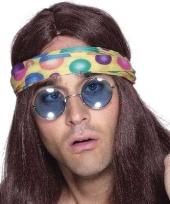 Blauwe hippie zonnebril