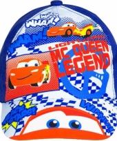 Blauwe kinderpet van cars