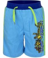 Blauwe korte broek ninja turtles