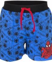 Blauwe korte broek spiderman