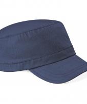 Blauwe leger caps van beechfield