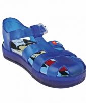 Blauwe mickey mouse zwembad sandalen