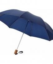 Blauwe mini paraplu 35 cm