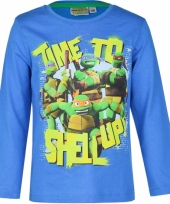 Blauwe ninja turtles shirt voor kids