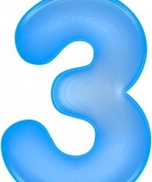 Blauwe opblaasbare getal 3