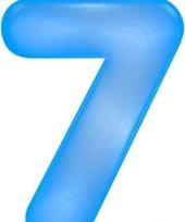 Blauwe opblaasbare getal 7