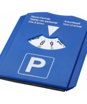 Blauwe parkeerschijf multi use
