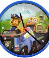 Blauwe paw patrol klok 22 5 cm