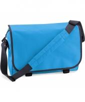 Blauwe polyester shoudertas 11 l