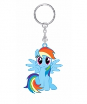 Blauwe rainbow dash sleutelhanger my little pony voor kinderen