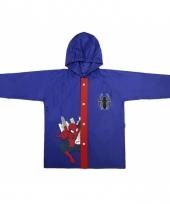 Blauwe regenjas spiderman voor kids