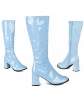 Blauwe retro laarzen voor dames