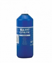 Blauwe schoolverf in tube 500 ml